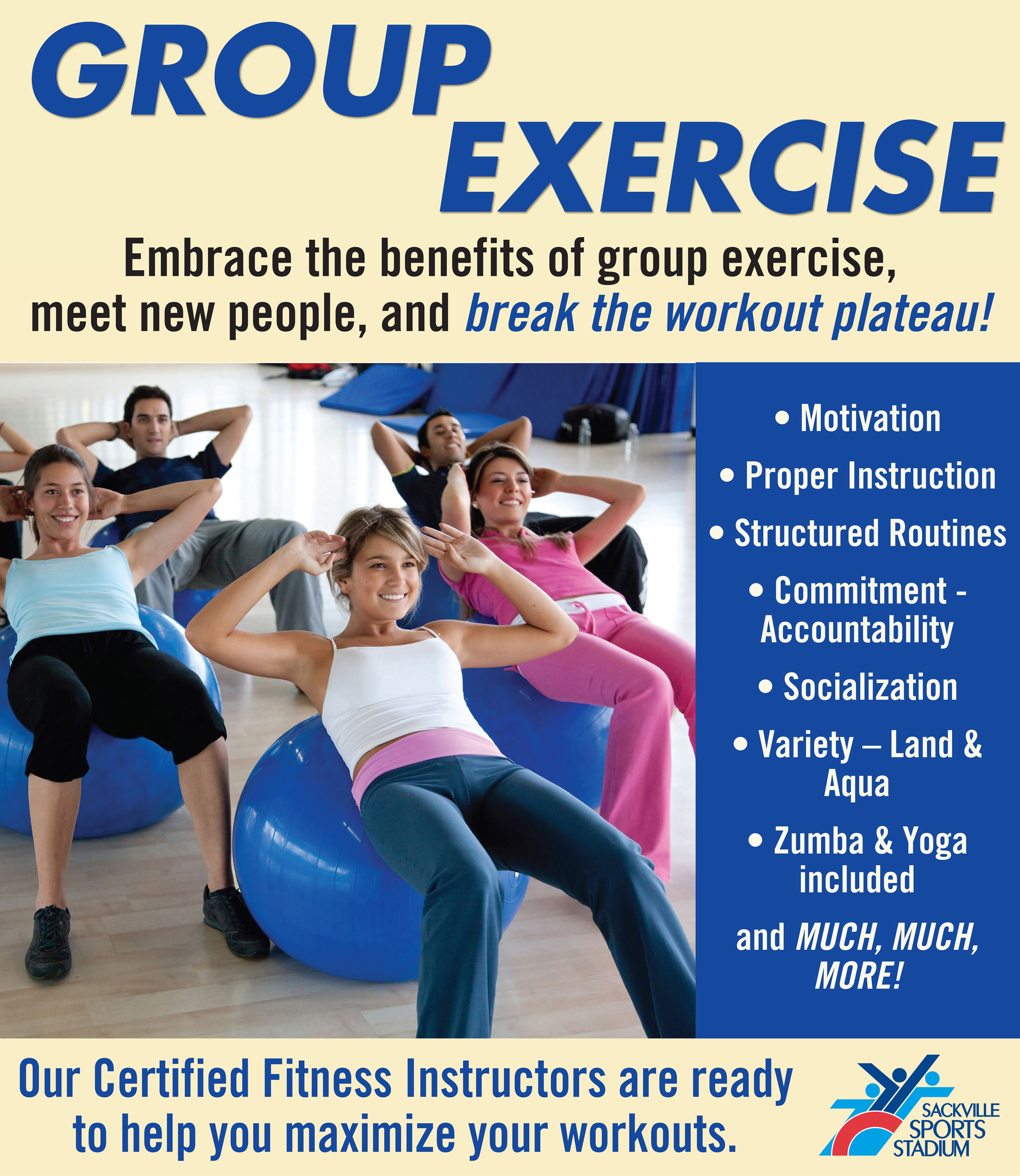Group Exercise Poster print